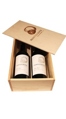 Branded Wooden Two Bottle Box
