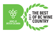 Winner of best BC red and best tasting room